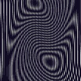 Optical background with monochrome geometric lines. Moire pattern. Trance effect Royalty Free Stock Photo