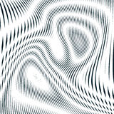Optical background with monochrome geometric lines. Moire pattern Royalty Free Stock Images