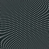 Optical background with monochrome geometric lines. Moire pattern Royalty Free Stock Photo