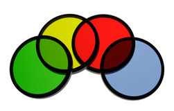 Optical Color Filters Royalty Free Stock Photos