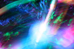 Optical Colors. Movement of colored optical fibers Royalty Free Stock Image