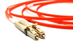Optical connectors lc-type. Stock Images