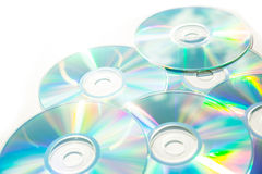 Optical Data. Storage with a bright and vivid color spectrum Stock Photography