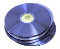 Optical discs. Cd, dvd, blu-ray, hddvd Stock Photo