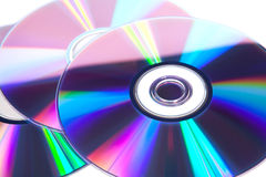 Optical discs. The view from the top Stock Photography