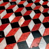 Optical effect of floor with marble steps Royalty Free Stock Images