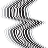 Optical effect mobius wave stripe design movement Stock Photography