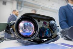 Optical electronic surveillance system. Robotic autonomous system. Military industry