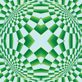 Optical expansion illusion Stock Image