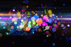 Optical fiber. Abstract colorful optical fiber background Stock Photo