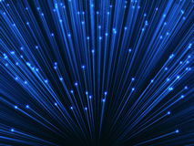 Optical Fiber Background. 3D image concept of optical fiber. Glare effect on the tips of the optical fiber Royalty Free Stock Photo
