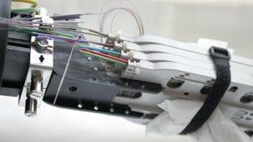 Optical fiber clutch. Cutters cut the fibers royalty free stock photos