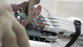 Optical fiber clutch stock video