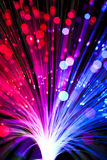 Optical fiber lighting Stock Image