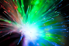 Optical fiber lighting Stock Photo