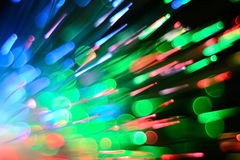 Optical fiber lighting. Colorful optical fibers are widely used in fiber-optic communications Royalty Free Stock Images