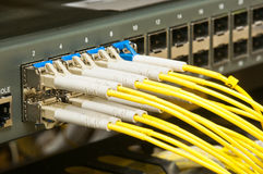 Optical fiber network Royalty Free Stock Images