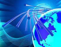 Optical Fiber Network Means World Wide Web And Communicating Royalty Free Stock Image
