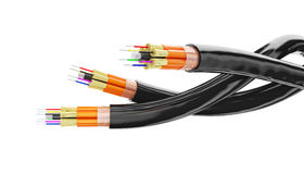 Optical fiber on white background Royalty Free Stock Photos