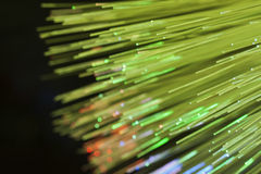 Optical fibers Royalty Free Stock Images
