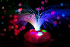 Optical fibers Stock Photography
