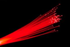 Optical fibers Stock Images