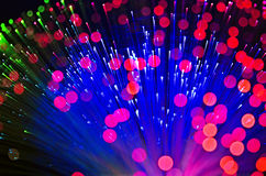 Optical fibers Royalty Free Stock Photo