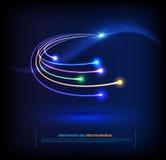 Optical fibers communication concept Stock Image