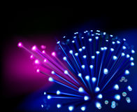 Optical fibers. Vector illustration. Royalty Free Stock Images