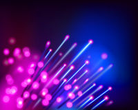 Optical fibers. Vector illustration. Royalty Free Stock Photography