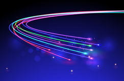 Optical Fibers.vector. Optical or optic fiber background with a lot of lights for your creative work and design. Fibre stream Royalty Free Stock Images