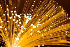 Optical fibre in golden. Color Stock Images