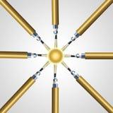 Optical fibre node. Network infrastructure Stock Image