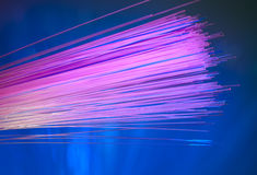 Optical fibres Stock Images