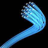 Optical fibres Royalty Free Stock Photos