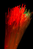 Optical fibres abstract blurred technology background Stock Photo