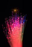 Optical fibres Royalty Free Stock Image