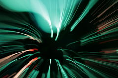Optical fibres-light lines Stock Photos