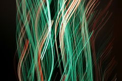 Optical fibres-light lines Stock Photography