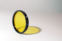 Optical filter. Yellow colour filter for the camera 40. 5 Stock Images
