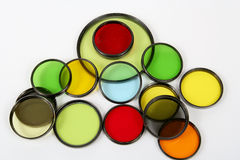 Optical filters Royalty Free Stock Photos