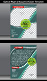 Optical Flyer & Magazine Cover Template Royalty Free Stock Photo