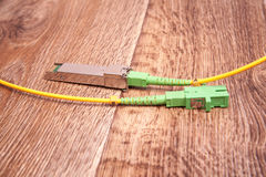 Optical gigabit SFP module for network. Switch Royalty Free Stock Images