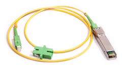 Optical gigabit SFP module for network Stock Photos