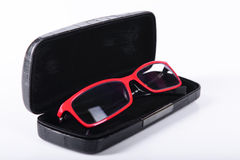 Optical glasses in a case Royalty Free Stock Image