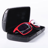 Optical glasses in a case Stock Photos