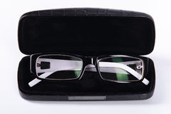 Optical glasses in a case Stock Images
