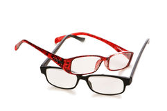 Optical glasses isolated. On the white background Royalty Free Stock Images