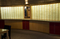 Optical glasses store Royalty Free Stock Photography