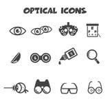 Optical icons Royalty Free Stock Image